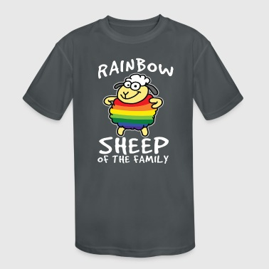 RAINBOW SHEEP - Kid's Moisture Wicking Performance T-Shirt