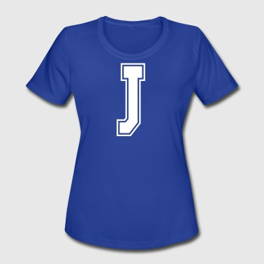 B J Letter J - Women's Moisture Wicking Performance T-Shirt