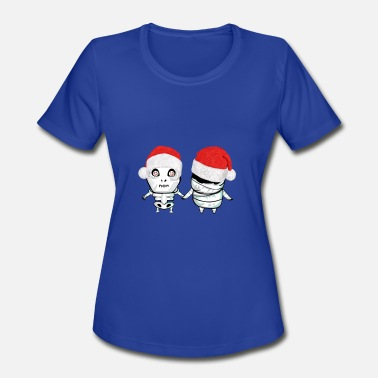 Christmas Motif Christmas Monsters Motif - Women's Moisture Wicking Performance T-Shirt