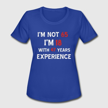65th birthday designs - Women's Moisture Wicking Performance T-Shirt