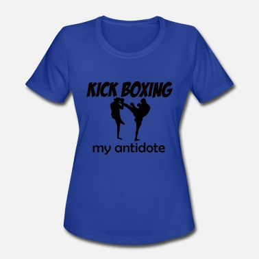 I Love Kick Boxing Kick Boxing design - Women's Moisture Wicking Performance T-Shirt