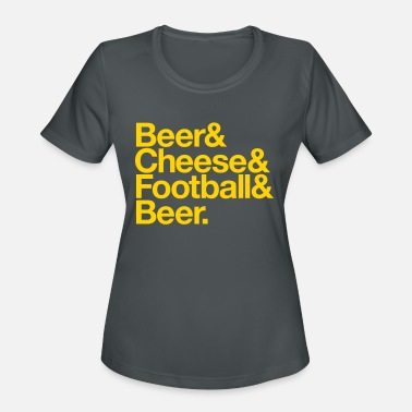Lambeau Field BEER & CHEESE & FOOTBALL & BEER - Women's Sport T-Shirt