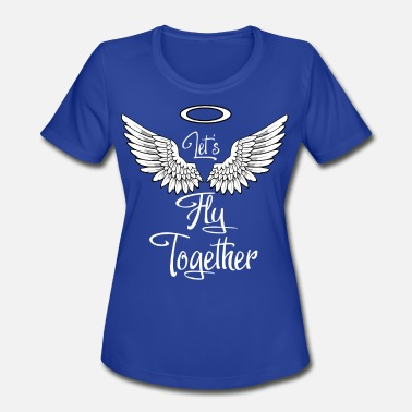 Angelwings angel wings - let s fly togehter - Women's Sport T-Shirt