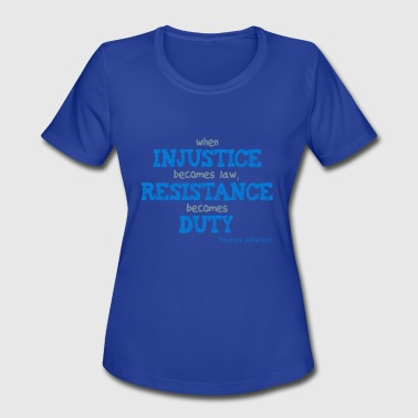 injustice - Women's Moisture Wicking Performance T-Shirt