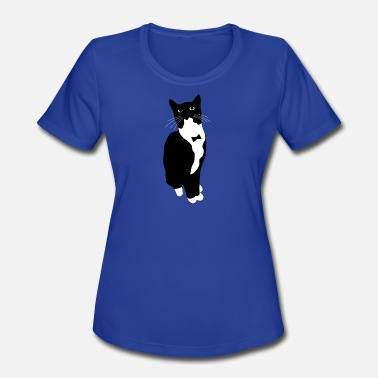 Tuxedo Bow TUXEDO KITTY WITH BOW TIE - Women's Moisture Wicking Performance T-Shirt