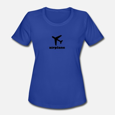 Above The Clouds airplane fly above the clouds into the sky - Women's Moisture Wicking Performance T-Shirt