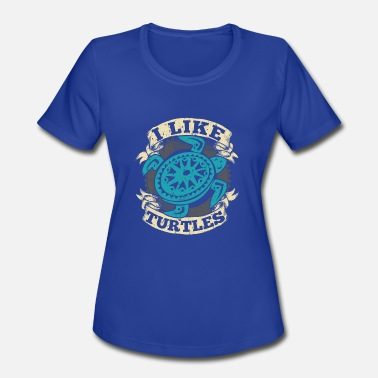 Protection Of Animals Turtle Hawaii Turtle Animal Protection Animal Gift - Women's Moisture Wicking Performance T-Shirt
