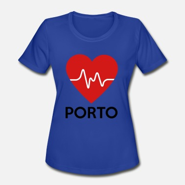 Porto Heart Porto - Women's Moisture Wicking Performance T-Shirt