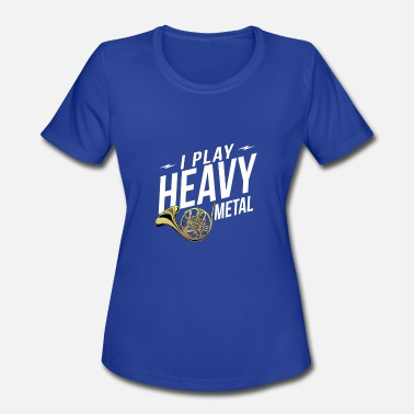 Blue French Horn Shirt. Gift For Daughter/Son From Dad - Women's Sport T-Shirt