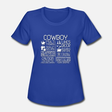 Hospitality Cowboy Traits - Women's Moisture Wicking Performance T-Shirt
