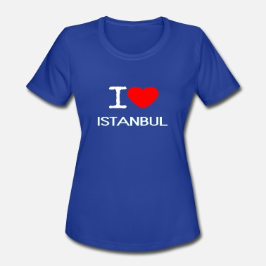 I Love Istanbul I LOVE ISTANBUL - Women's Moisture Wicking Performance T-Shirt
