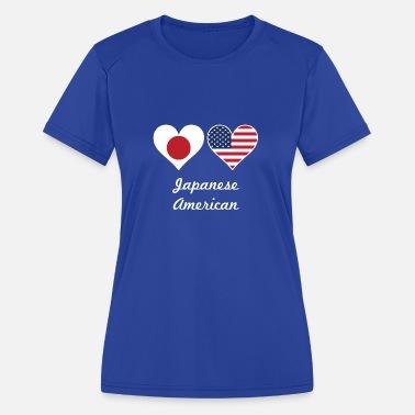 093b45c33c4dbc Japanese American Flag Hearts - Women  39 s Sport ...