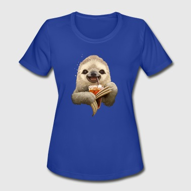 Soft Drink SLOTH SOFT DRINK - Women's Moisture Wicking Performance T-Shirt