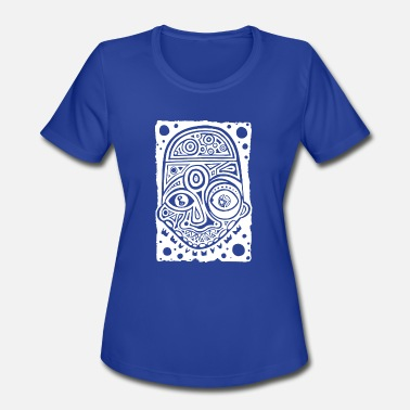 Trippy Long ink drawing tattoo style enlightment universe one - Women's Moisture Wicking Performance T-Shirt