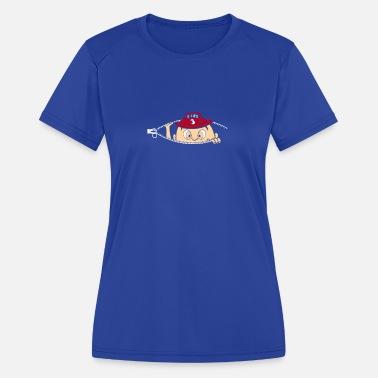 979fc4e4 Baby Peeking Peeking Fireman Baby - Women's Sport T-Shirt