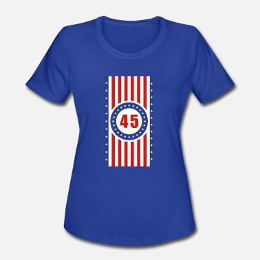 Vertical Usa Flags USA 45 Flag Vertical - Women's Sport T-Shirt
