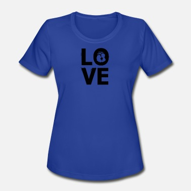 Love Is Four Letter Word LOVE is a four letter word gift idea - Women's Moisture Wicking Performance T-Shirt