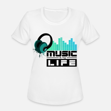 Feel The Sound Music Sound Life Beat Feeling - Women's Moisture Wicking Performance T-Shirt