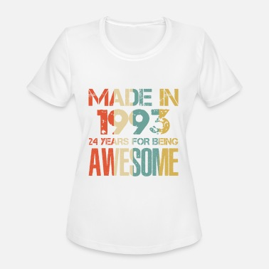 25th Anniversary Made In 1993 25 Years Of Awesomeness t-shirt - Women's Moisture Wicking Performance T-Shirt