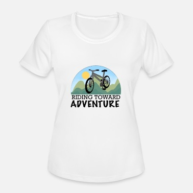 Adventure Bike Riders Bike Driving To The Adventure Shirt Gift Wheel - Women's Sport T-Shirt
