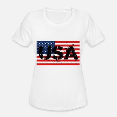 Usa Police USA - Women's Moisture Wicking Performance T-Shirt