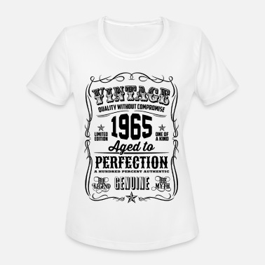 Vintage 1965 Aged to Perfection Black Print - Women's Sport T-Shirt