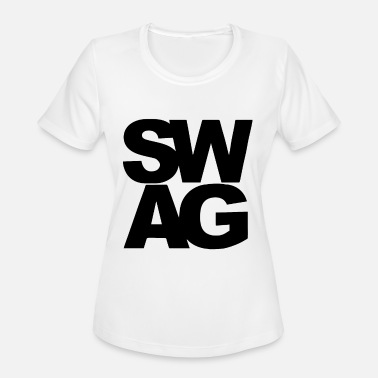 Trendy Urban Black SWAG Lyrics Hip Hop Rap Urban Trendy Cool Me - Women's Moisture Wicking Performance T-Shirt