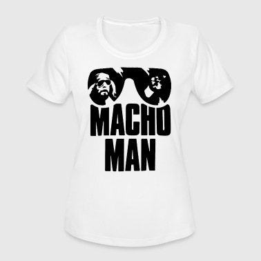 Macho Macho Man Old School Adult Licensed W - Women's Moisture Wicking Performance T-Shirt