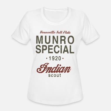 Indian Grandpa Munro Special 1920 Speed Record Indian Bike - Women's Moisture Wicking Performance T-Shirt