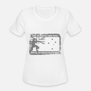 Royal Australian Navy Try burning this one royal australian infidel vete - Women's Sport T-Shirt