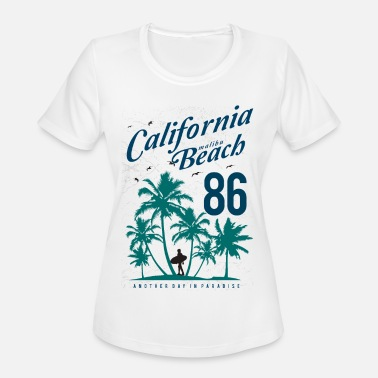 California Malibu California Malibu Beach - Women's Moisture Wicking Performance T-Shirt