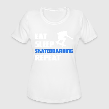 Skateboard Halfpipe Skateboarding Skateboarder Skating Skate Halfpipe - Women's Moisture Wicking Performance T-Shirt