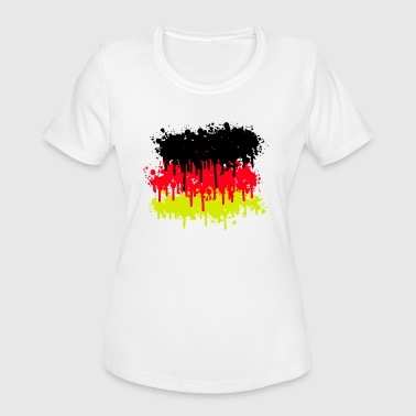 Flag Of Germany germany flag, germany, soccer - Women's Moisture Wicking Performance T-Shirt