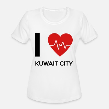 Kuwait City I Love Kuwait City - Women's Moisture Wicking Performance T-Shirt