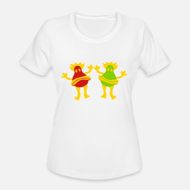 Miscellaneous Joyful happy miscellaneous 2 friends team couple s - Women's Sport T-Shirt