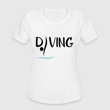 Springboard Diving - Women's Moisture Wicking Performance T-Shirt