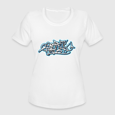 GRAFFITI ARTIST Tags Piece Mural Streetart - Women's Moisture Wicking Performance T-Shirt