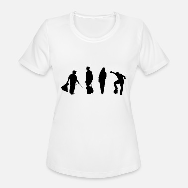 Trendy Urban Urban people silhouette - Women's Moisture Wicking Performance T-Shirt