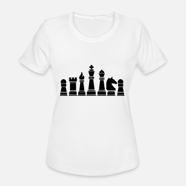 Chess Board Check chess board - Women's Moisture Wicking Performance T-Shirt