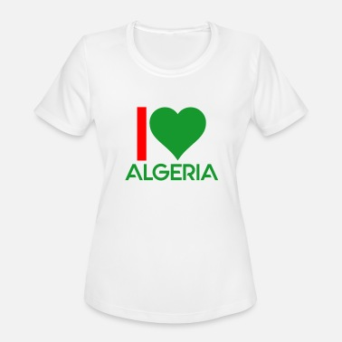 I Love Algeria Tee shirt I love Algeria - Women's Moisture Wicking Performance T-Shirt