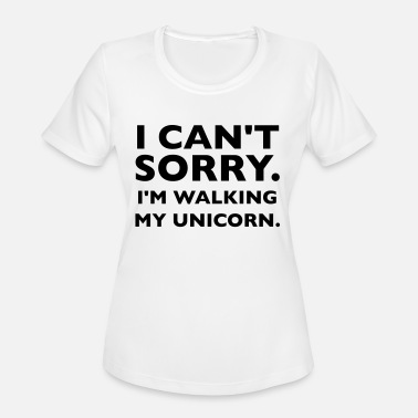 Walk My Unicorn I'm Walking My Unicorn - Women's Moisture Wicking Performance T-Shirt