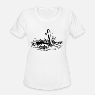 Cross-jesus-christianity Jesus Christian Cross - Women's Moisture Wicking Performance T-Shirt