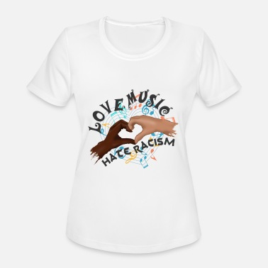 Anti-racism Music LOVE MUSIC HATE RACISM V2 - Women's Moisture Wicking Performance T-Shirt