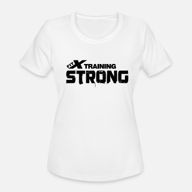 Fitx FITx Strong white FITx - Women's Moisture Wicking Performance T-Shirt