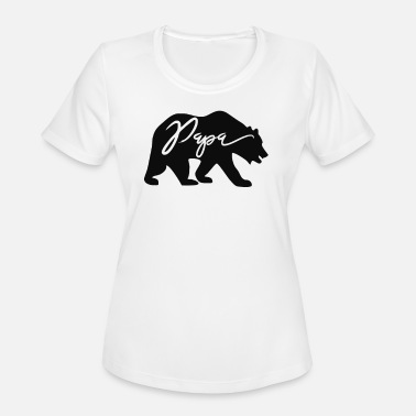 Papa Cool Sayings Cool Papa Bear T Shirt Funny Animal - Women's Moisture Wicking Performance T-Shirt