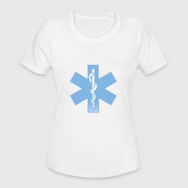 Emergency Paramedic Gifts for EMT EMS Cross Emergency Medical Paramedic - Women's Moisture Wicking Performance T-Shirt
