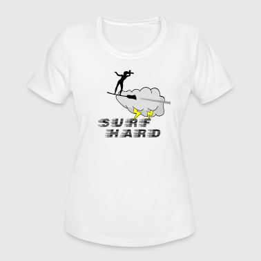 Lady Lightning Surf Hard - Women's Moisture Wicking Performance T-Shirt