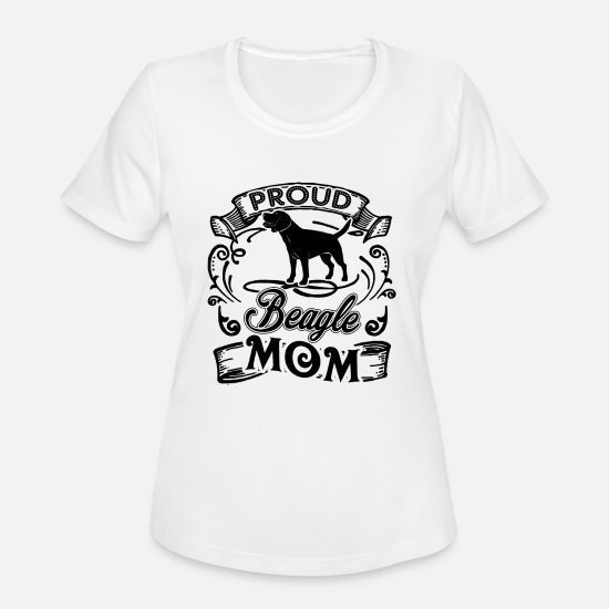 Beagle T-Shirts - Beagle Mom Shirt - Women's Sport T-Shirt white
