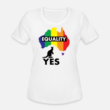 Yes Australia EQUALITY VOTE YES AUSTRALIA - Women's Moisture Wicking Performance T-Shirt