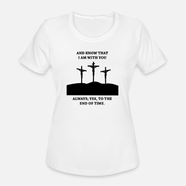 Christian Cross JESUS ON THE CROSS! GIFT IDEA FOR CHRISTIANS - Women's Sport T-Shirt